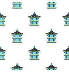 Hexagonal pavilion  south korea pattern seamless vector