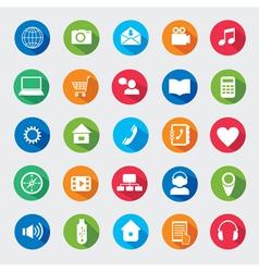 Modern media design elements vector image