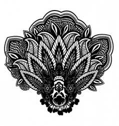 flower paisley vector image