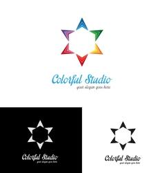 Colorful studio logo template vector image