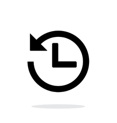 Countdown icon on white background vector