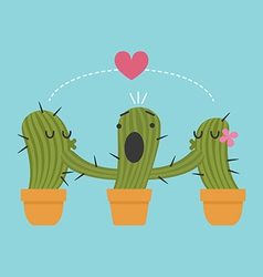 Three cactus vector