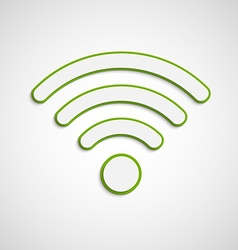 3D wifi icon vector image vector image