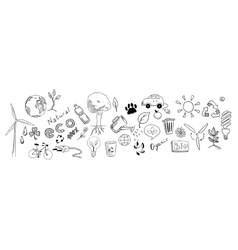 Eco drawing set vector
