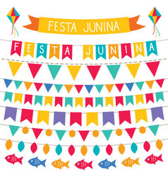 Festa junina decoration set vector