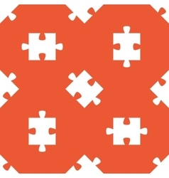 Orange puzzle pattern vector