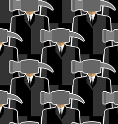 Office worker hammer seamless pattern People-tools vector image