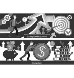 Business consulting investment strategic managment vector