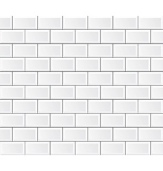 White tile wall vector
