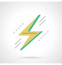 Lightning bolt flat color design icon vector