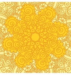 Abstract ornamental sun background vector image