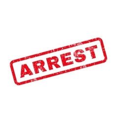 Arrest text rubber stamp vector