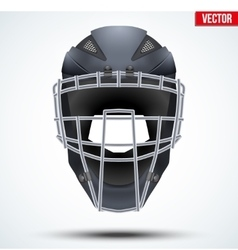 Baseball catcher helmet vector