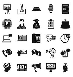 blood money icons set simple style vector image vector image