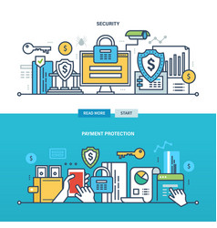 business and technology protection monitoring vector image vector image