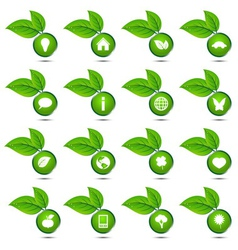 collection of ecological icons vector image