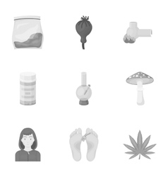 Drugs set icons in monochrome style Big vector image vector image