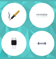 Flat icon appliance set of repair receiver vector