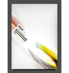 Flyer design template business web layout vector