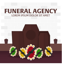 funeral sevices and funeral agency banner vector image