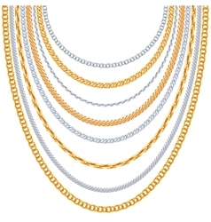 Gold chains background vector