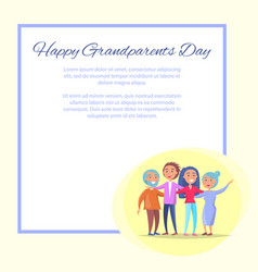 grandparents day poster senior couple and children vector image