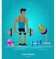 Gym design concept vector