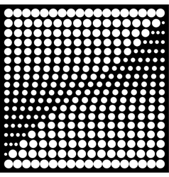 Halftone design elements square vector