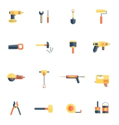Home repair tools icon flat vector