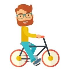 Man riding a bicycle vector