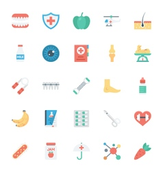 Medical and health colored icons 5 vector