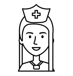 nurse professional woman of health vector image