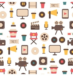 Seamless pattern of flat colorful movie design vector image vector image