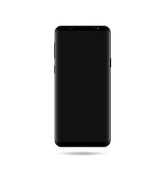 smart phone mock up with screen black vector image vector image