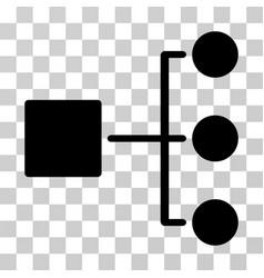 Structure diagram icon vector