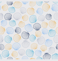 stylized seamless texture with round seashells vector image
