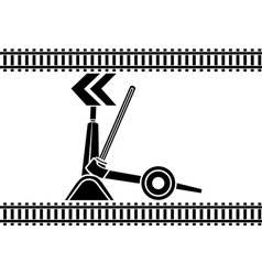 Switch arrows railway stencil vector image vector image