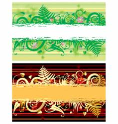 two floral banners vector image vector image