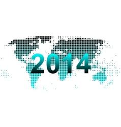 World map 2014 vector image