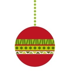 Christmas balls isolated decoration vector