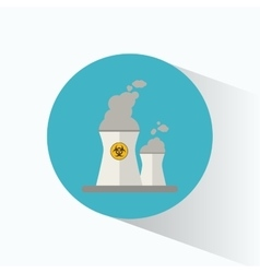 nuclear power station energy sign vector image