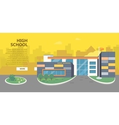 High school building in flat style design vector