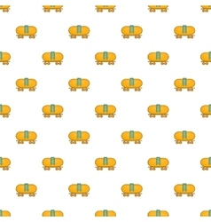 Tanker trailer on train pattern cartoon style vector