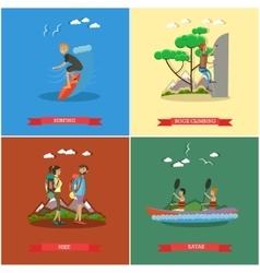 Set of summer outdoor activities concept vector