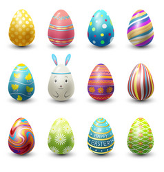 Easter eggs painted with spring vector