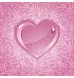 beautiful background on valentines day vector image