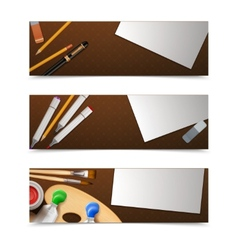 Drawing banners horizontal vector