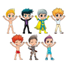Costumes for avatar vector image