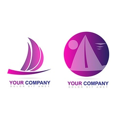 Sailboat logo design vector