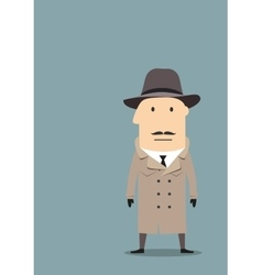 Spy or detective agent in coat vector